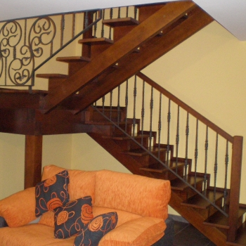 escalera madera-forja