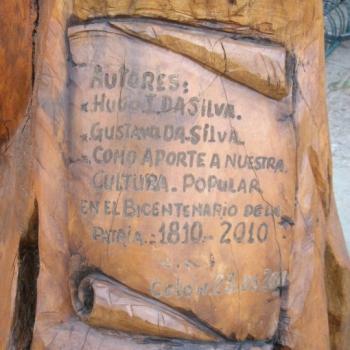 La Llama de la Esperanza - Placa tallada