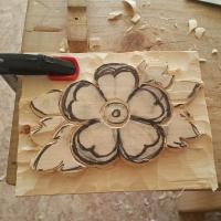 Flor Talla Madera progreso_2