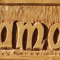 Rótulos tallados madera