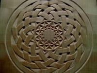 Rosetón basado en una trenza celta