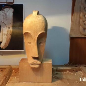 Máscara Africana Tallada por Francisco_35