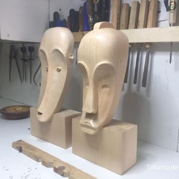 Máscara Africana Tallada por Francisco_38