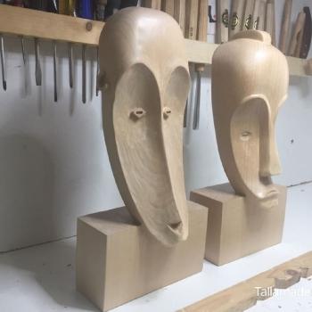 Máscara Africana Tallada por Francisco_39